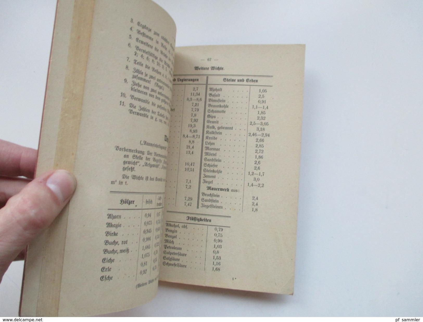 Schulbuch 1944 Rechenbuch Für Gewerbliche Berufsschulen. Lehrmittelverlag Hannover. - Schulbücher