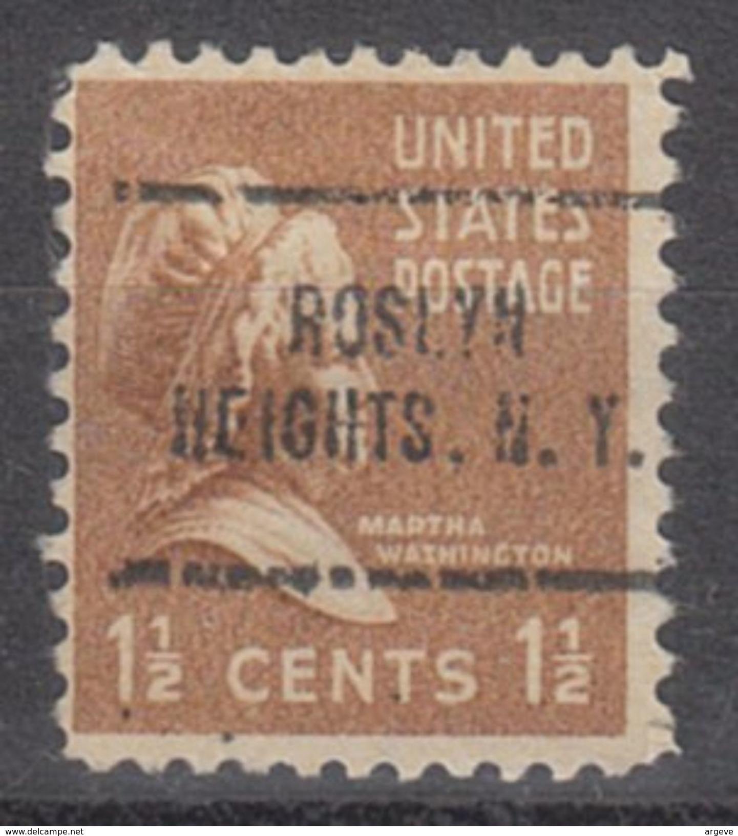 USA Precancel Vorausentwertung Preo, Locals New York, Roslyn Heights 705 - Vereinigte Staaten