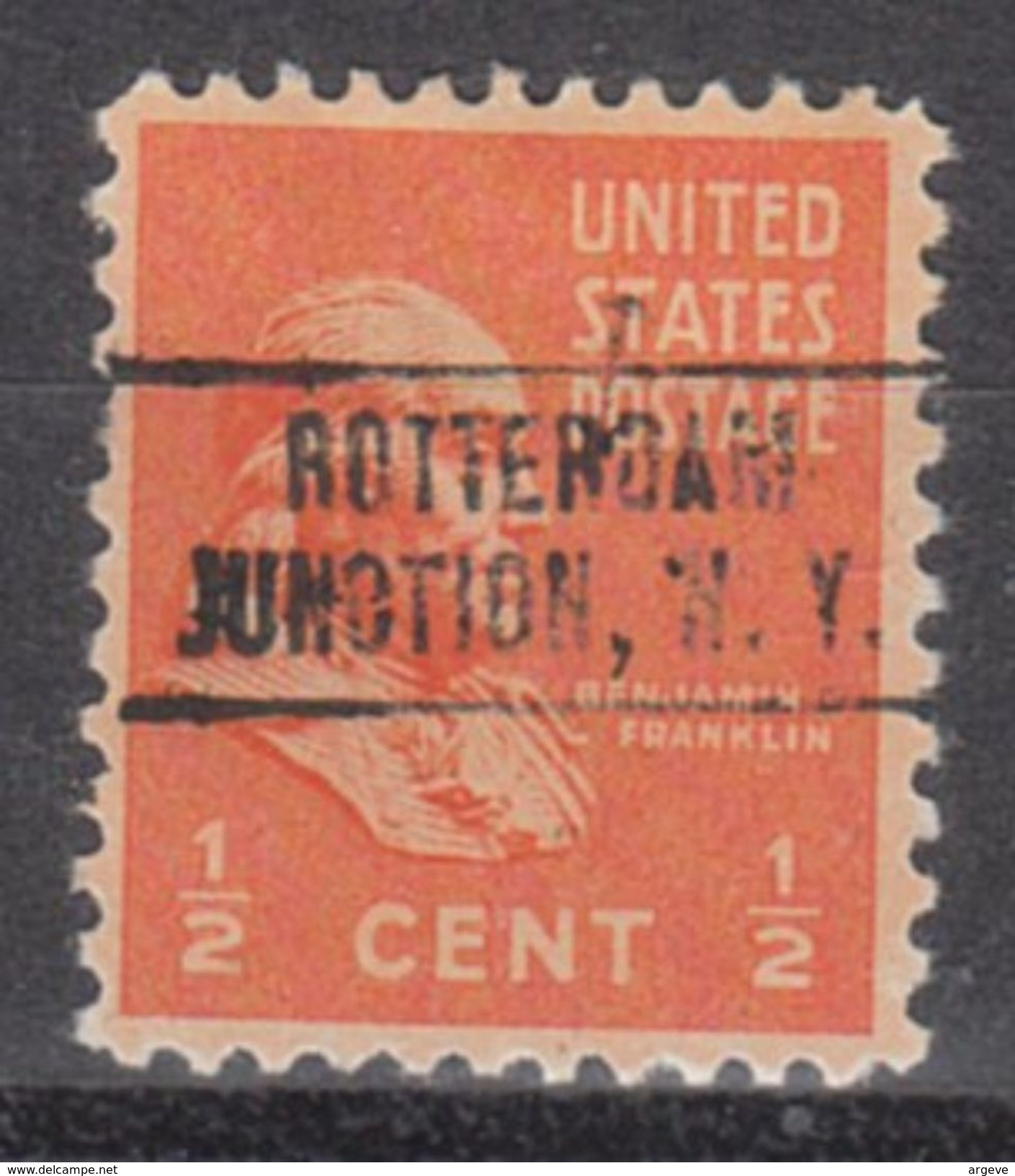 USA Precancel Vorausentwertung Preo, Locals New York, Rotterdam Junction 749 - Vorausentwertungen