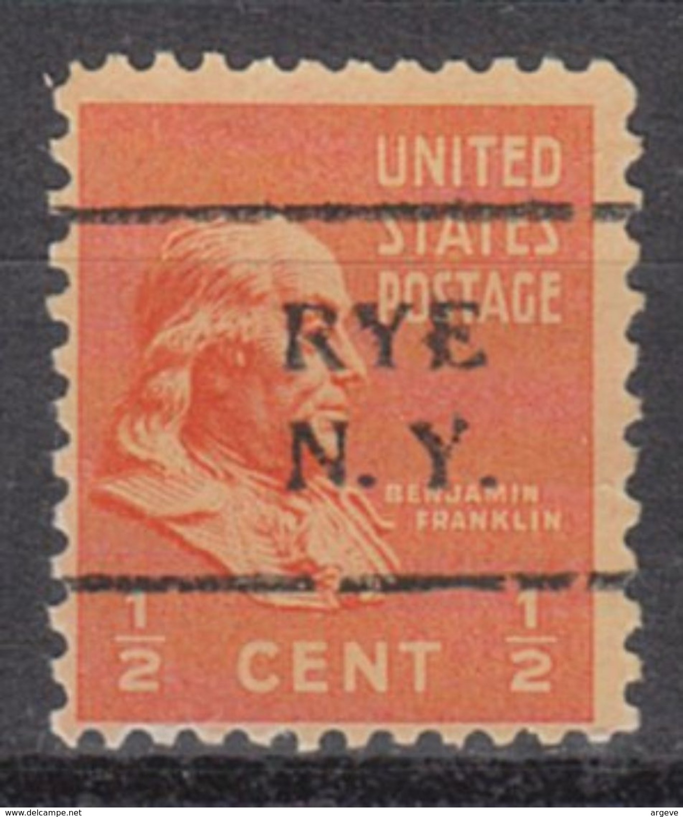 USA Precancel Vorausentwertung Preo, Locals New York, Rye 708 - Vereinigte Staaten