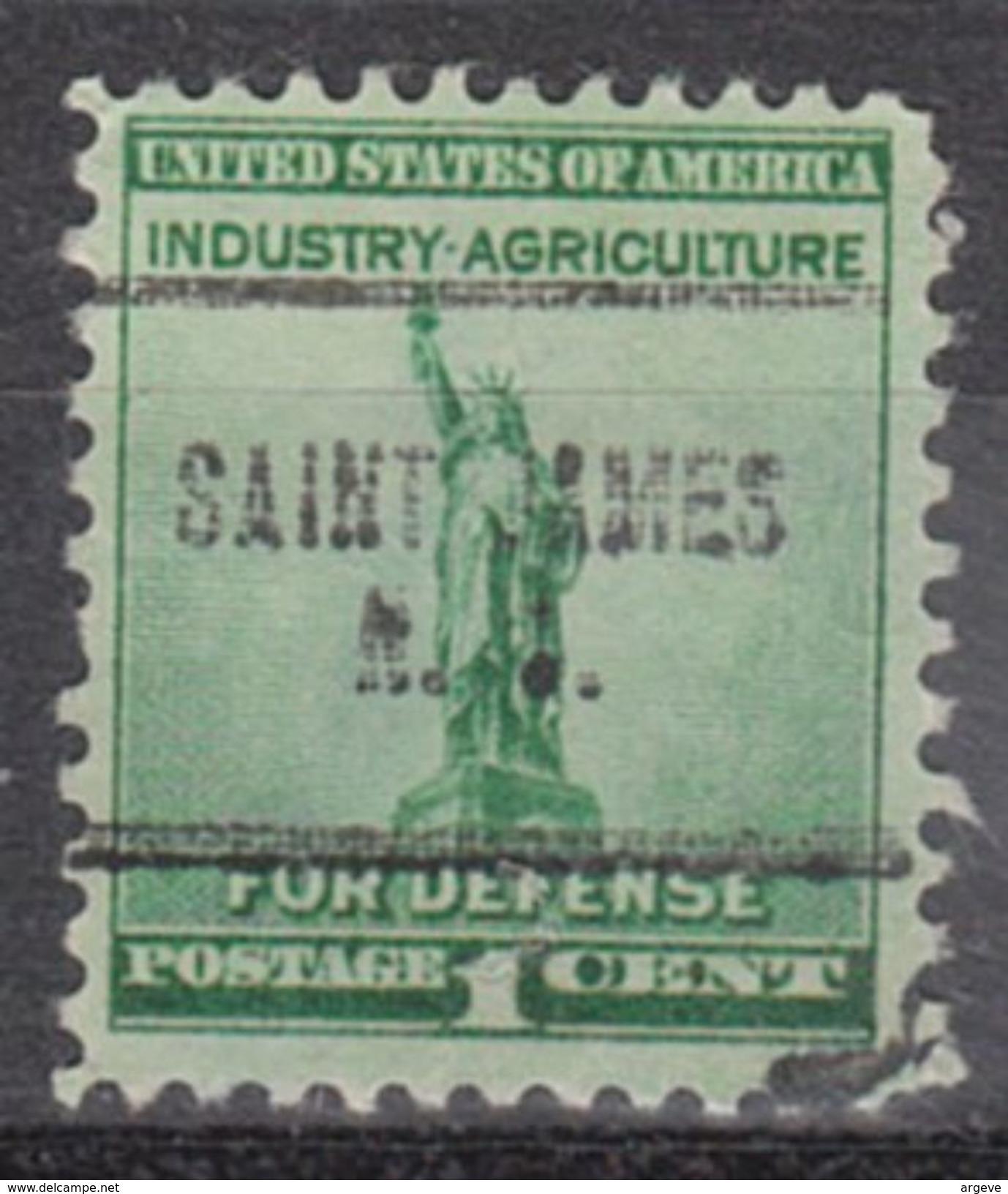 USA Precancel Vorausentwertung Preo, Locals New York, Saint James 704 - Vereinigte Staaten