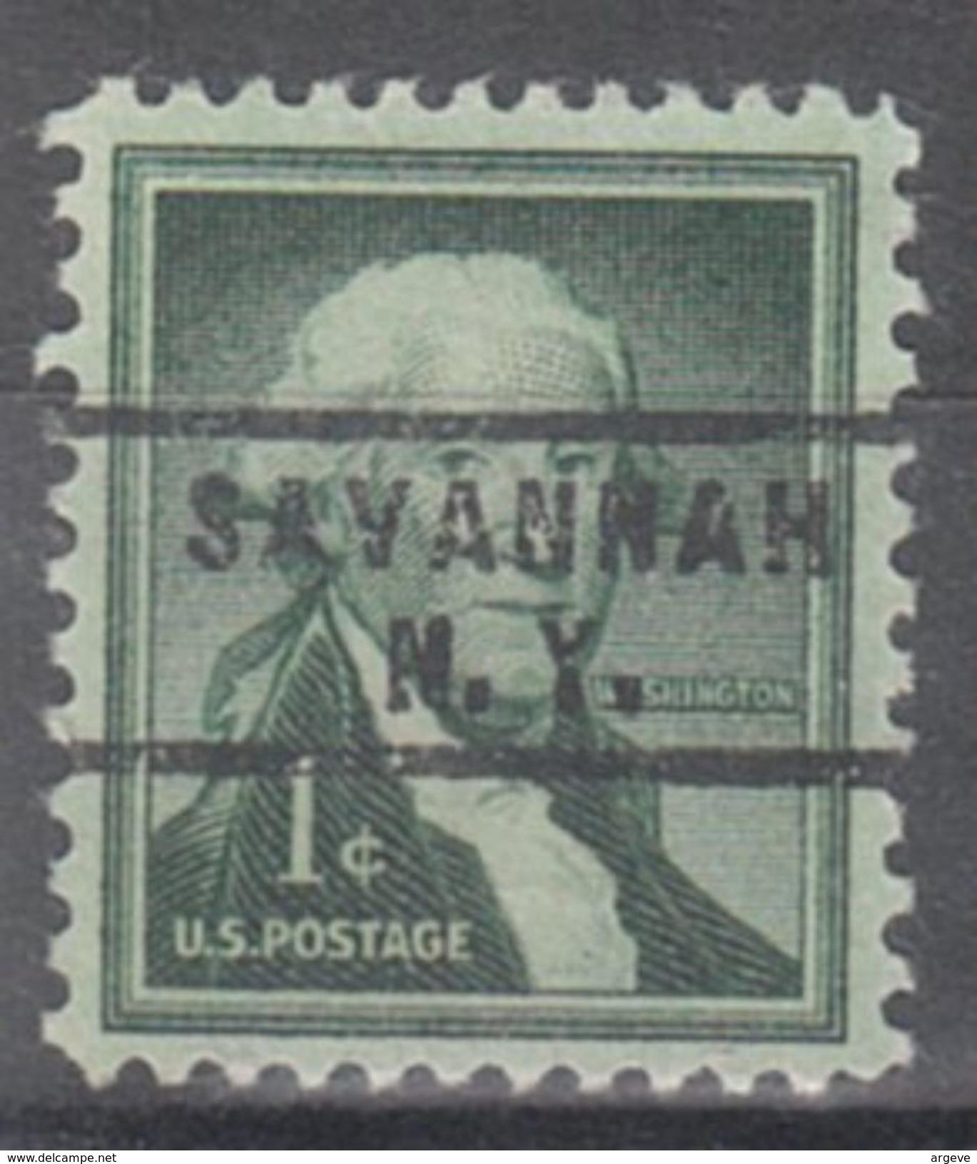 USA Precancel Vorausentwertung Preo, Locals New York, Savannah 743 - Vorausentwertungen