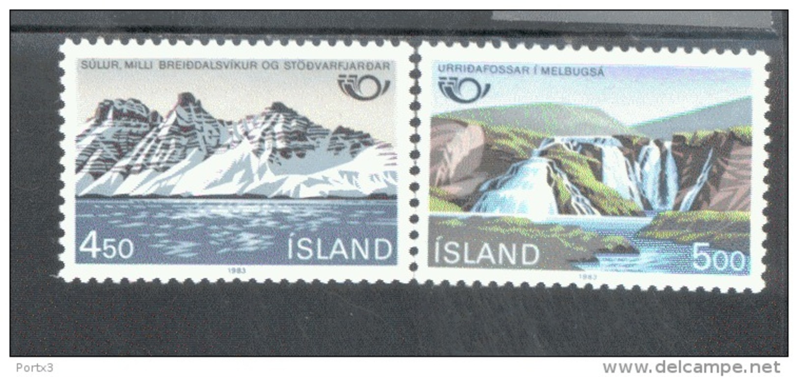 Skandinavien-Gemeinschaftsausgaben Tourismus Island 596-597 MNH ** Postfrisch - Emissions Communes
