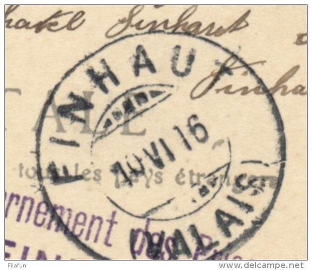 Schweiz - 1916 - POW-Postcard Internement Des Prisonniers De Guerre FINHAUT - SUISSE To Paris / France - Militaire Post
