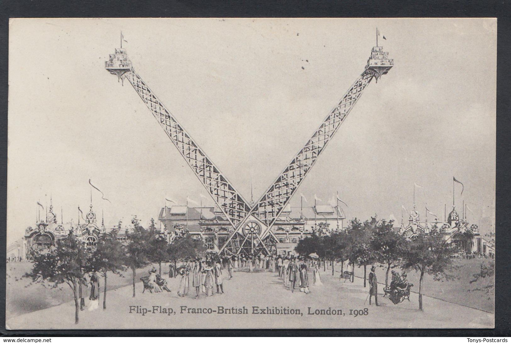 Exhibition Postcard  Flip-Flap, Franco-British Exhibition, London, 1908 -  DC1045 - Exhibitions