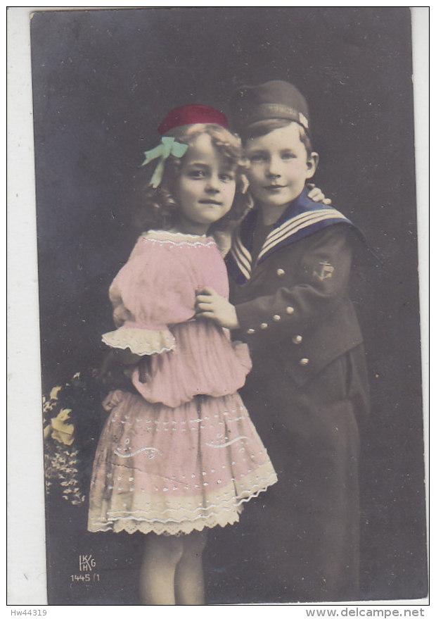 Zwei Kinder - Er Im Matrosenanzug, Sie Im Rosa Kleidchen .. 1909 Aus Lengenfeld - Abbildungen