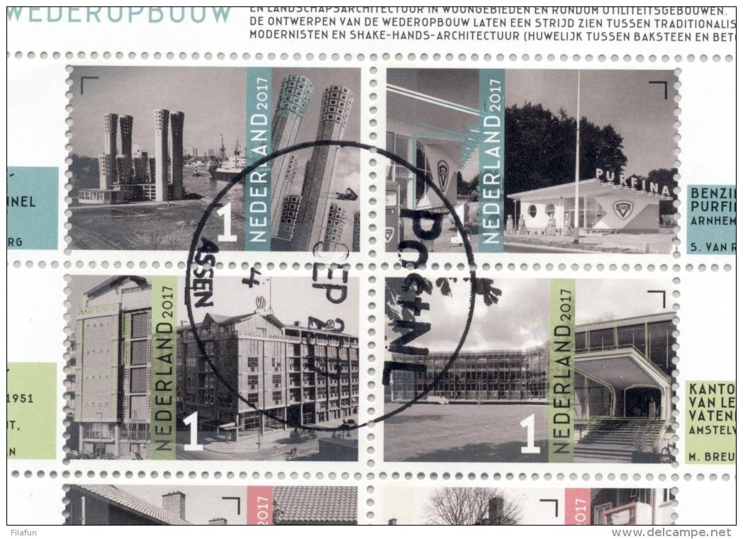 Nederland - 2017 - Velletje Architectuur - Echt Gebruikt - Periode 2013-... (Willem-Alexander)