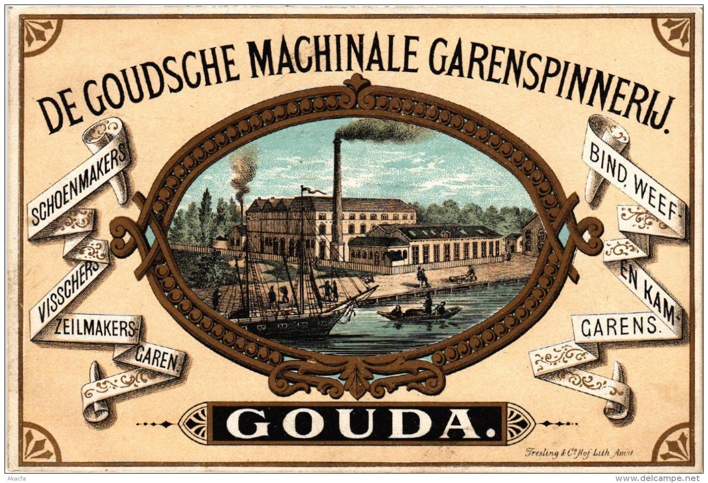 CPA GOUDA De Goudsche Machinale Garenspinerij NETHERLANDS (605007) - Gouda