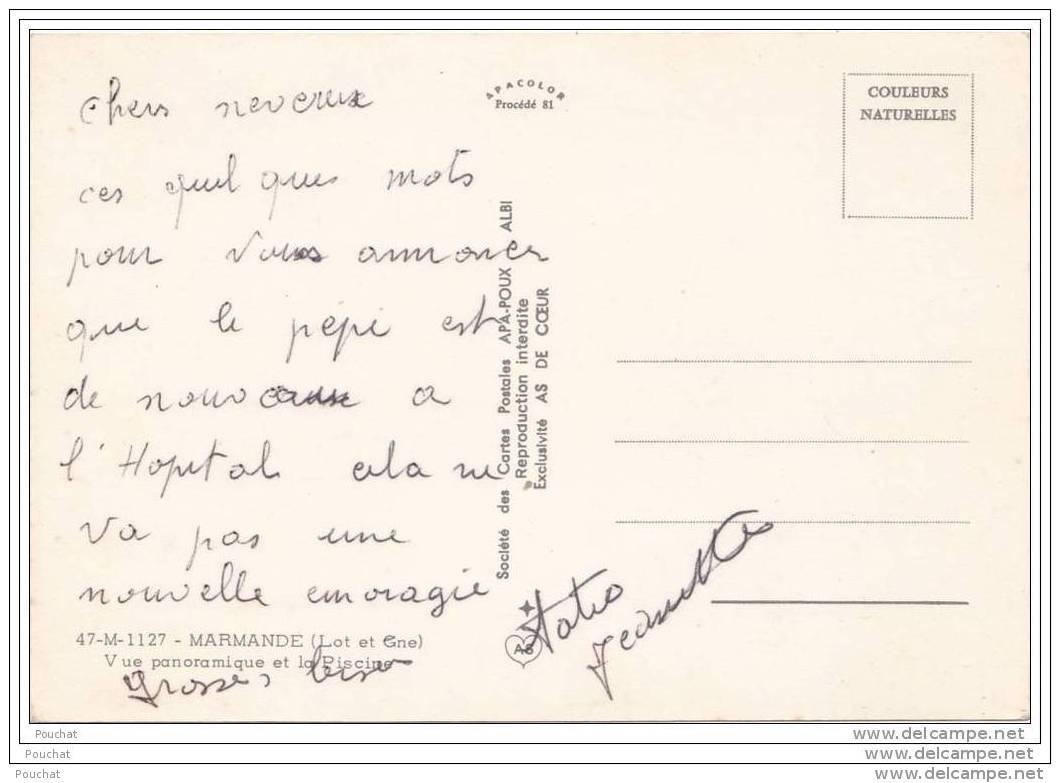 47) Marmande.- Vue Panoramique Et La Piscine - Marmande
