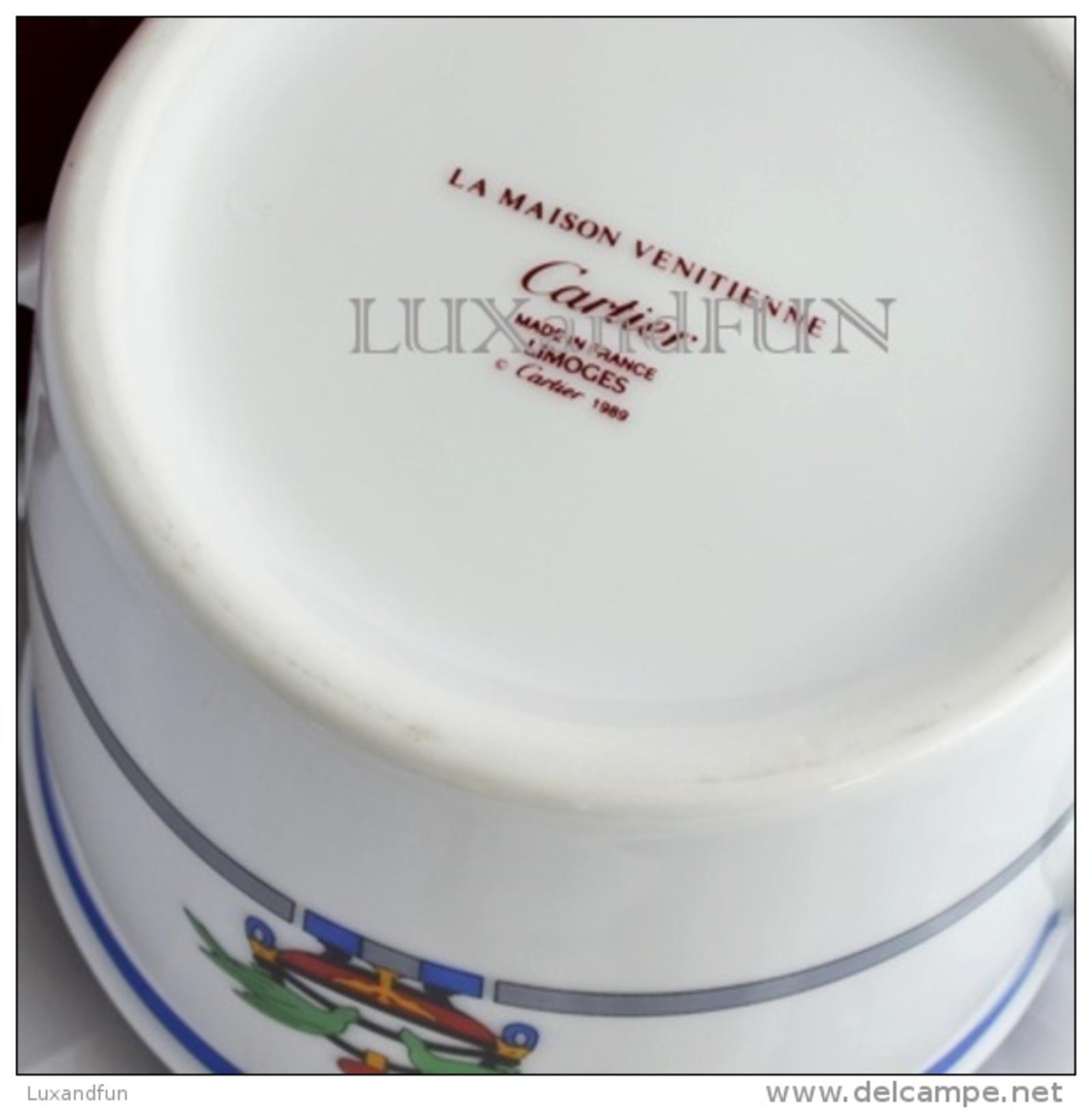 Cartier La Maison Venitienne Coffee Service - Limoges Porcelain- Servizio Caffè - Never Used - Tasas