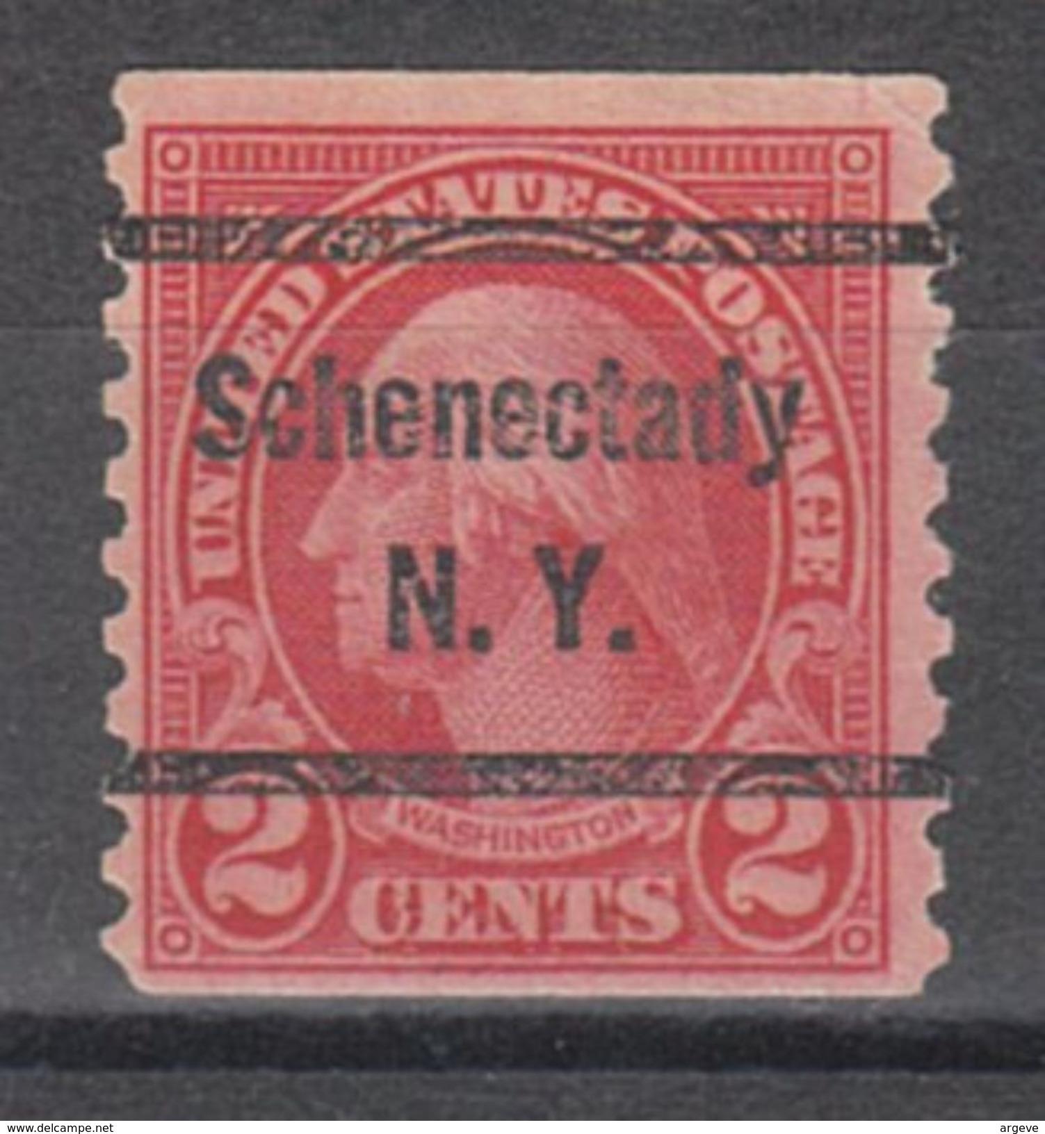USA Precancel Vorausentwertung Preo, Bureau New York, Schenectady 599-52 - Vorausentwertungen