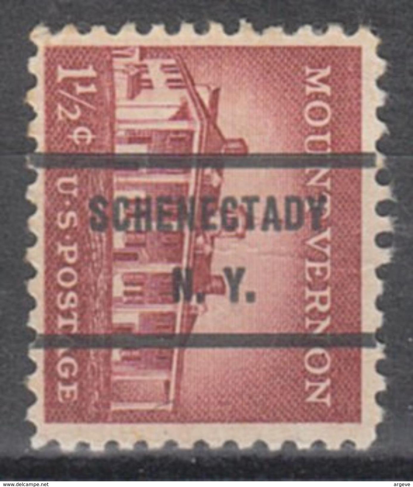 USA Precancel Vorausentwertung Preo, Bureau New York, Schenectady 1032-71 - Vorausentwertungen