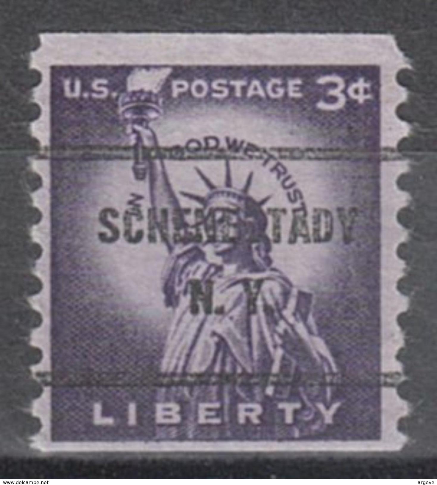 USA Precancel Vorausentwertung Preo, Bureau New York, Schenectady 1057-61 - Vereinigte Staaten