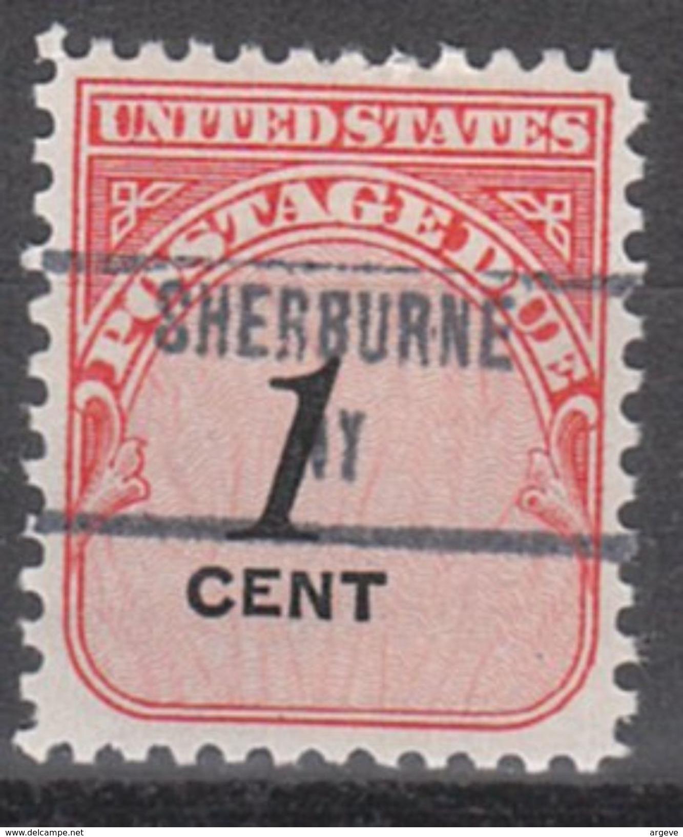 USA Precancel Vorausentwertung Preo, Locals New York, Sherburne 853 - Vorausentwertungen