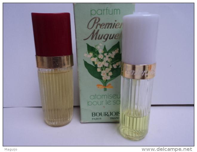 """BOURJOIS """" FLAMME"""" 11 ML EDT + """" PREMIER MUGUET"""" 10 ML ( PRESQUE VIDE) LIRE ET VOIR!! - Miniatures Femmes (avec Boite)"""
