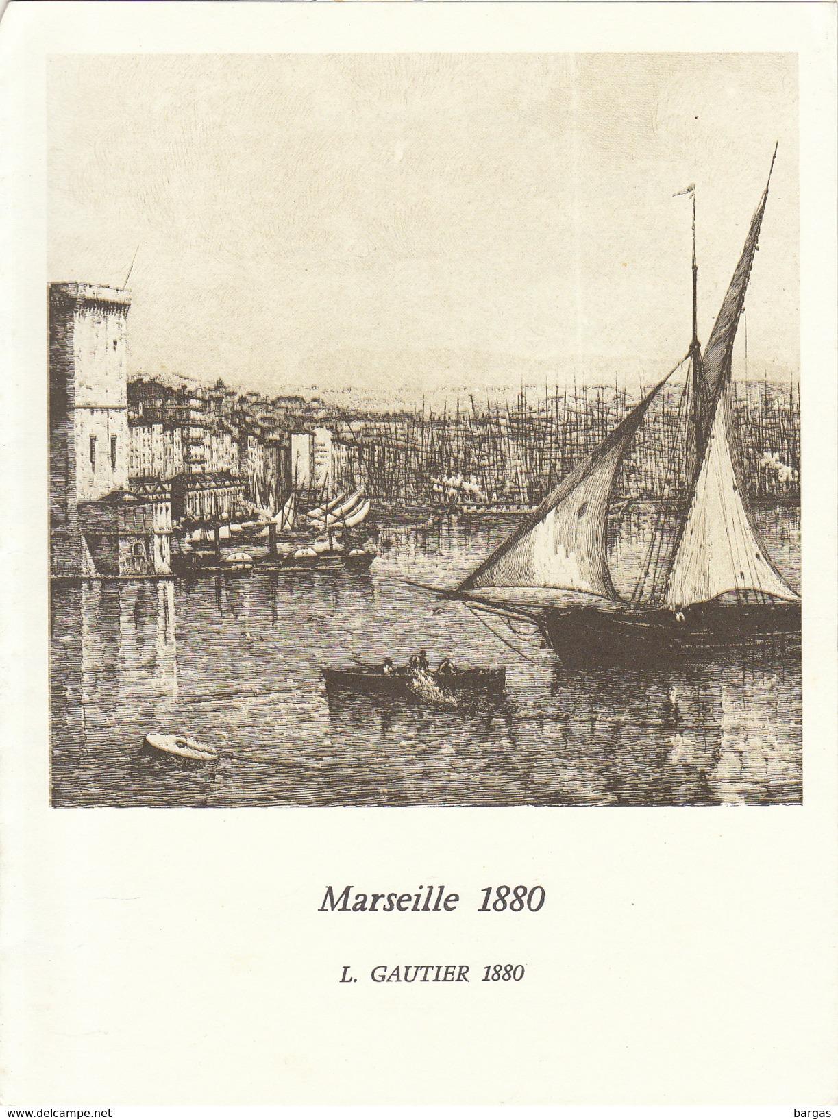 Menu Bateau Paquebot RENAISSANCE Illustration Marseille 1880 L. Gautier - Bateaux