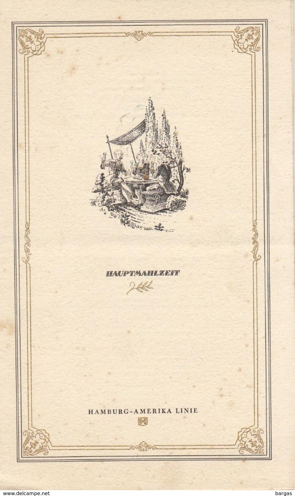 Menu Bateau Paquebot Hamburg Amerika Line M.S. Milwaukee 1939 - Schiffe