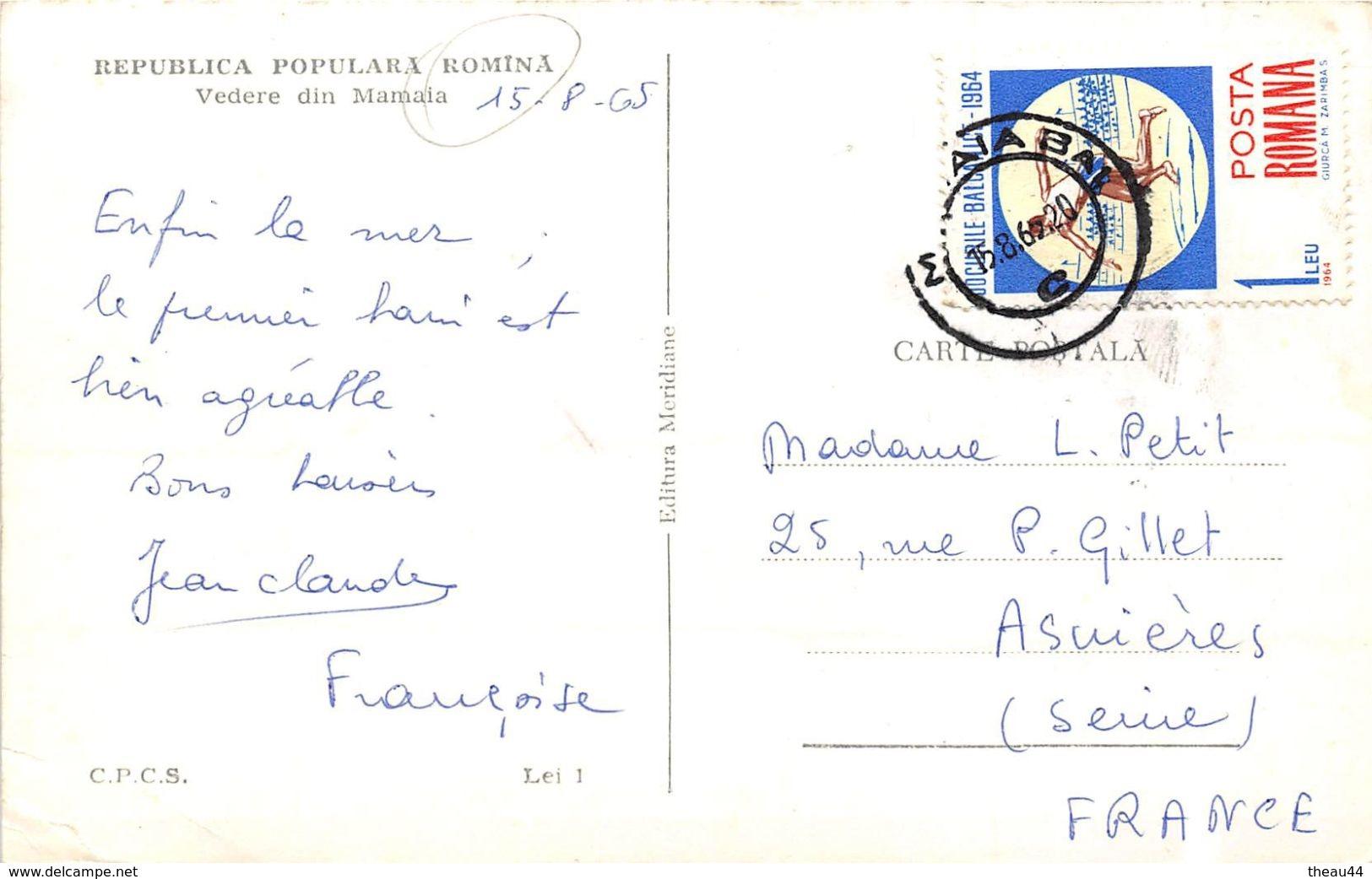 ¤¤  -  ROUMANIE   -  Republica Populara Romina  -  Vedere Din Mamaia   -  ¤¤ - Roumanie