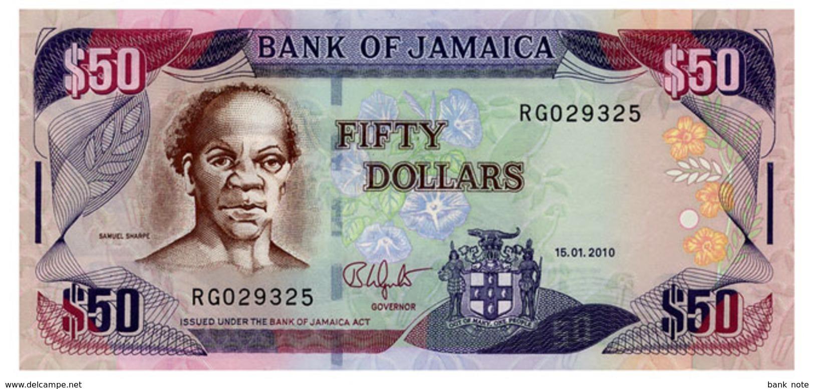 JAMAICA 50 DOLLARS 2010 Pick 83e Unc - Jamaica