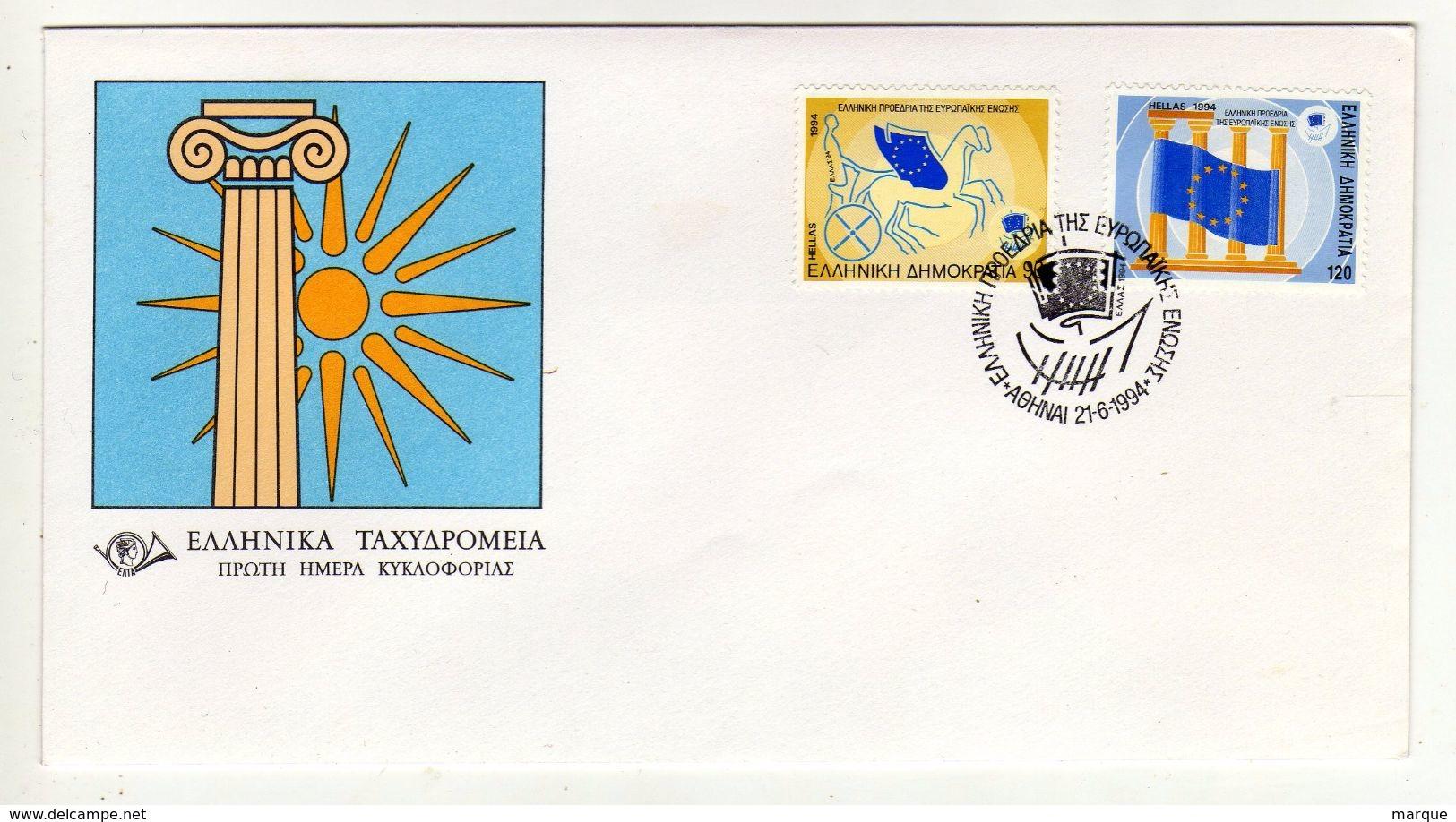 Enveloppe 1er Jour HELLAS GRECE AOHNAI 21/06/1994 - FDC