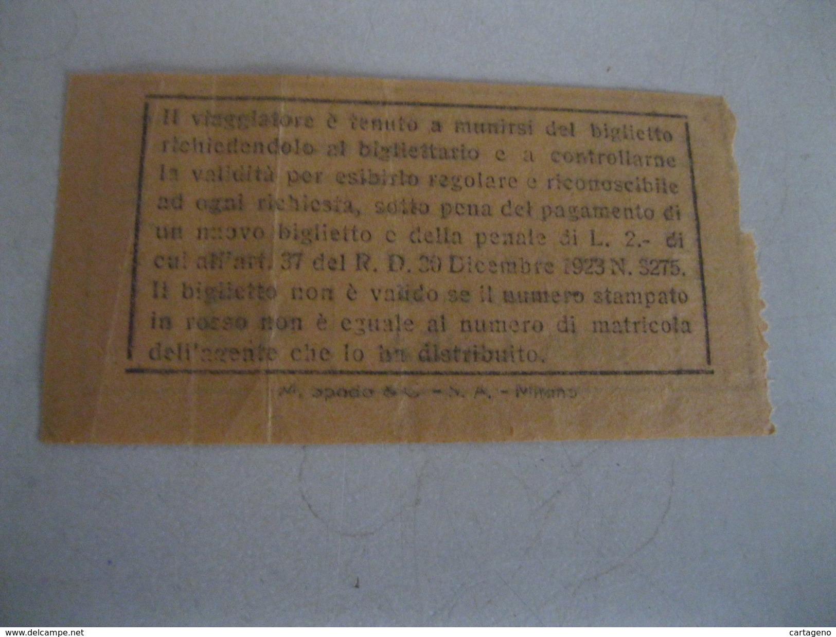 AZIENDA TRANVIARIA MUNICIPALE  Di BOLOGNA Vecchio Biglietto Da 40 Centesimi Anni  30/40 - Tram