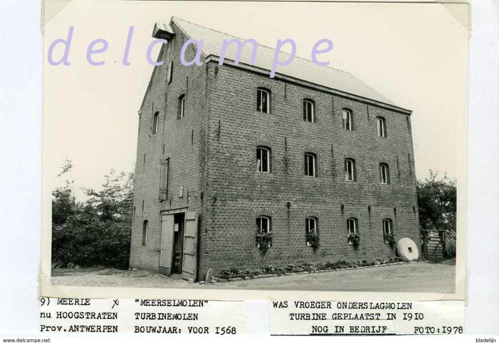 MEERSEL DREEF - Hoogstraten (Antw.) - Molen/moulin - Echte Foto (1978) Van De Meerselmolen (watermolen Met Turbine) - Lieux
