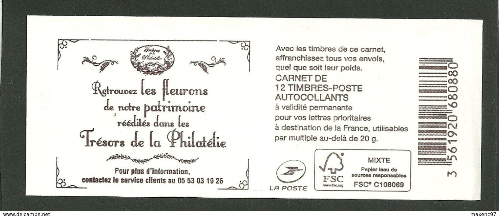 CARNET MARIANNE DE CIAPPA CARRE NOIR ET NUMERO COUVERTURE TRESORS DE LA PHILATELIE - Booklets