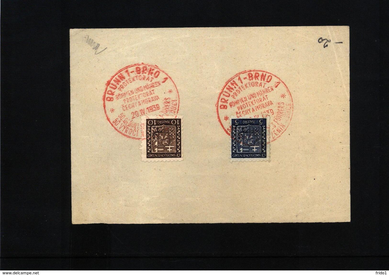 Czechoslovakia 1939 Brno Interesting Postmark - Briefe U. Dokumente