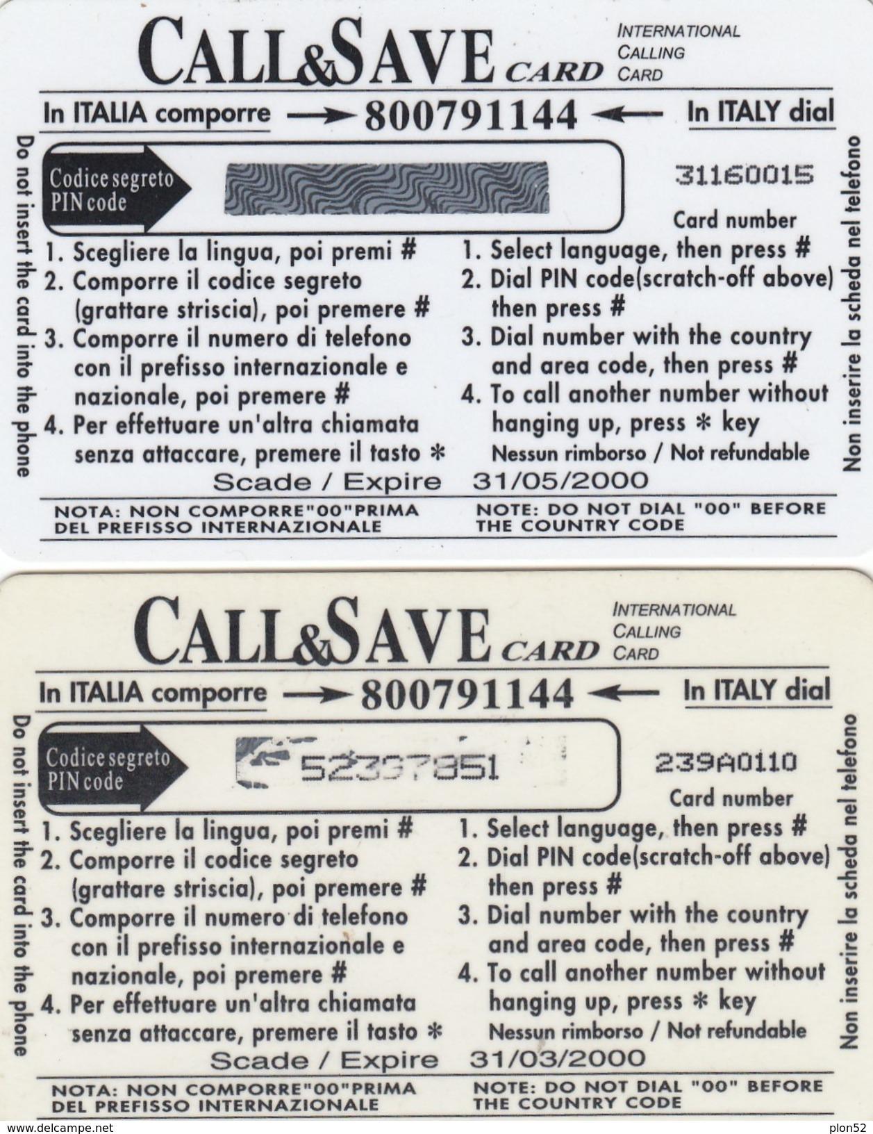 11433 - N°. 7 PREPAGATE-VARIE - USATE - Telefonkarten
