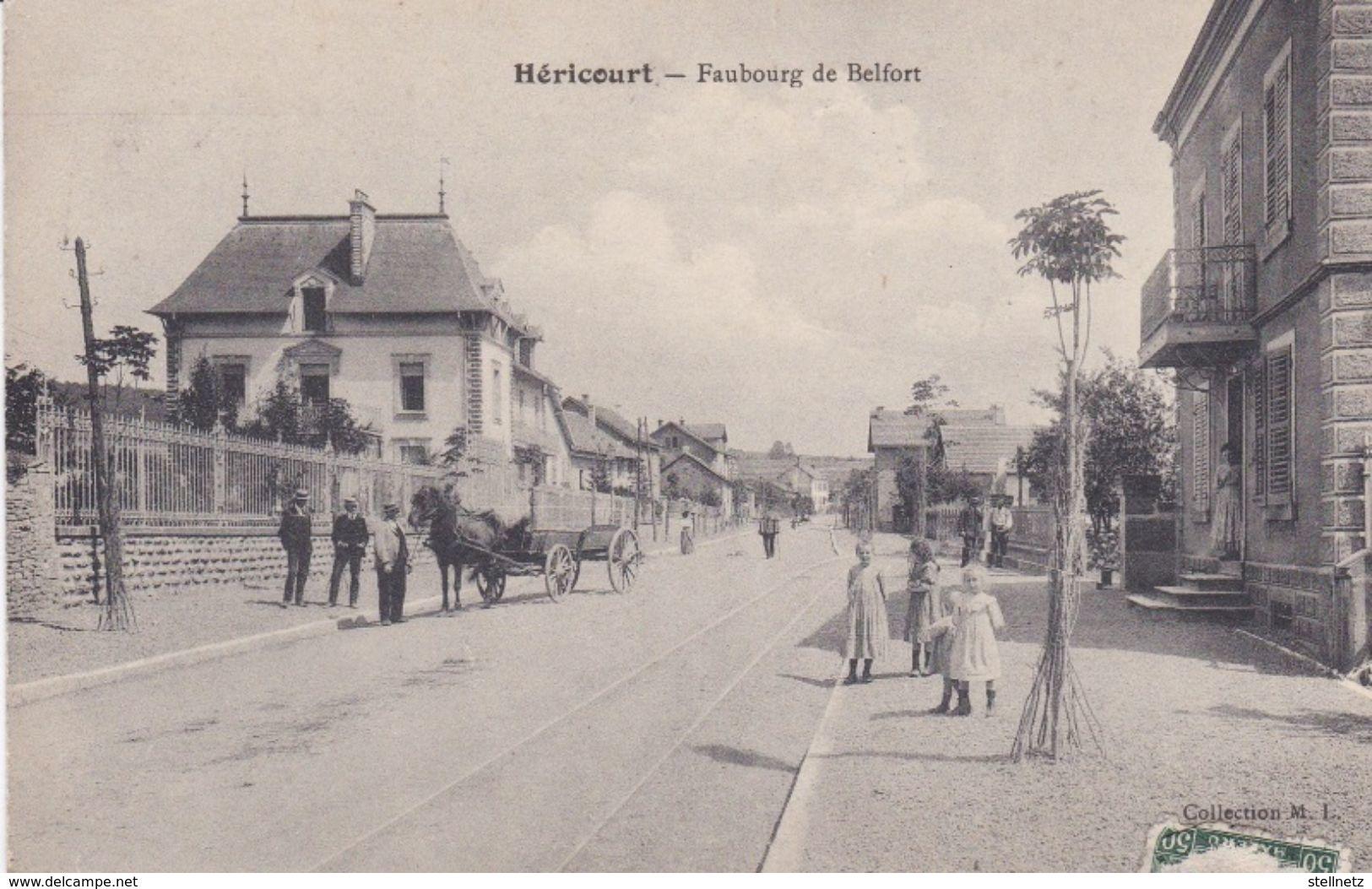 Alte Ansichtskarte Aus Héricourt -Faubourg De Belfort- - Otros Municipios