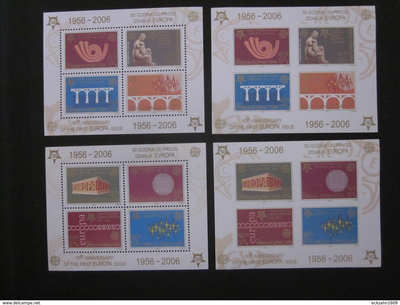 Jugoslawien Block 59 A/B + 60 A/B Postfrisch** - Jugoslawien