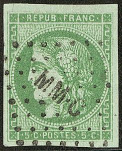 "No 42IIn, Obl Losange Ambulant ""MM.C"", Jolie Pièce. - TB - 1870 Bordeaux Printing"