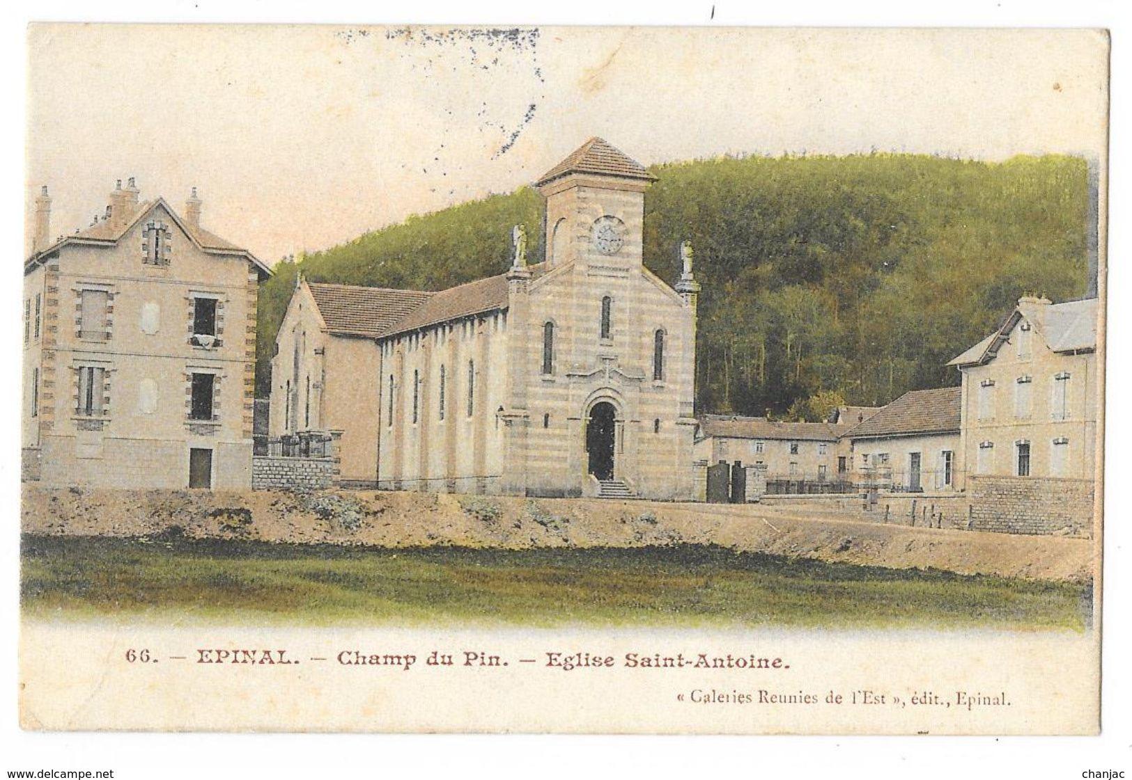 Cpa: 88 EPINAL - Champ Du Pin - Eglise Saint Antoine  1905  N° 66 - Epinal