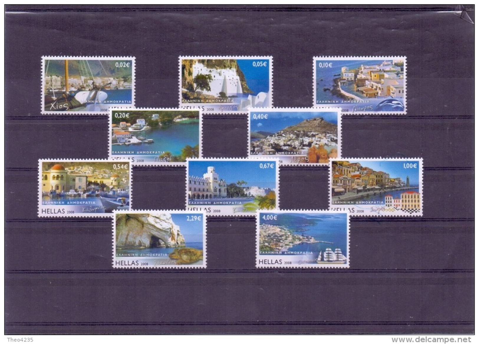 GREECE STAMPS GREEK ISLANDS III(PERFORATED ALL AROUND)-27/2/08-MNH-COMP LETE SET - Grèce