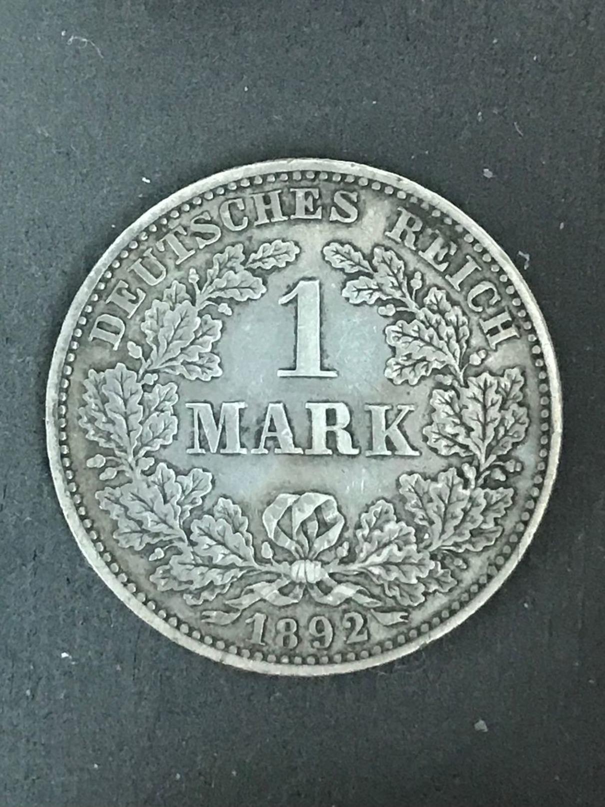 GERMANY - 1 Mark 1892 E -  Argento Silver - 1 Mark