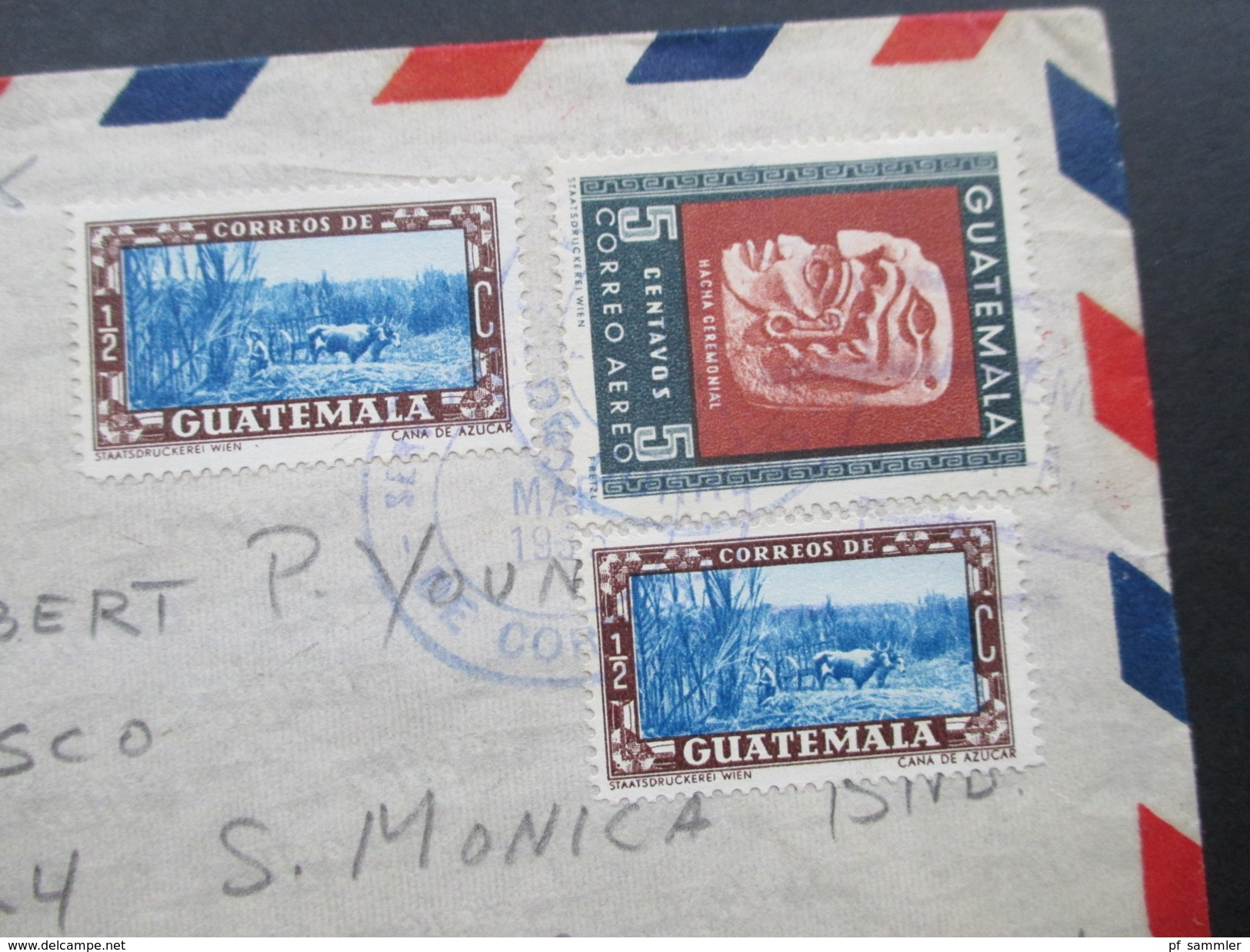 "Guatemala 1955 Kino / Industria Cinematografica. Edificio ""El Prado"" Nach Hollywood California. Robert P.Young - Kino"