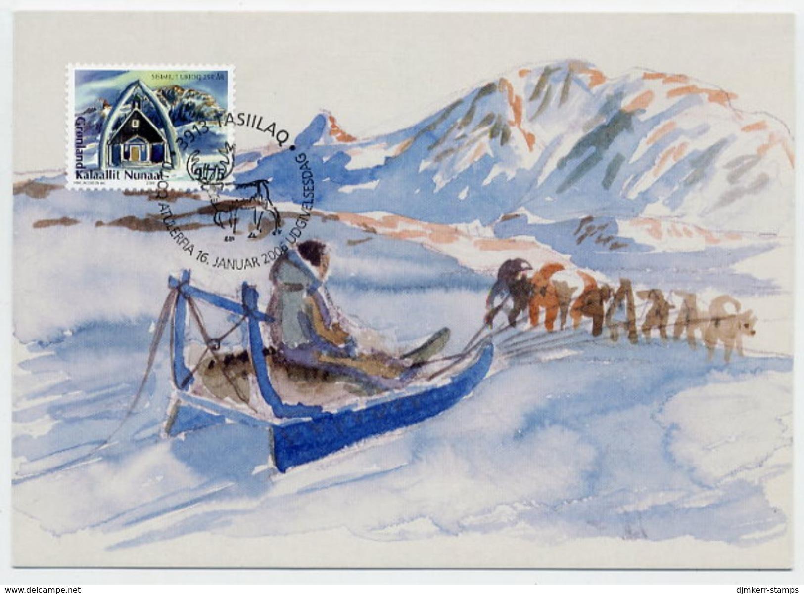 GREENLAND 2006 250th Anniversary Of Sisimiut On Maximum Card.  Michel 458 - Maximum Cards