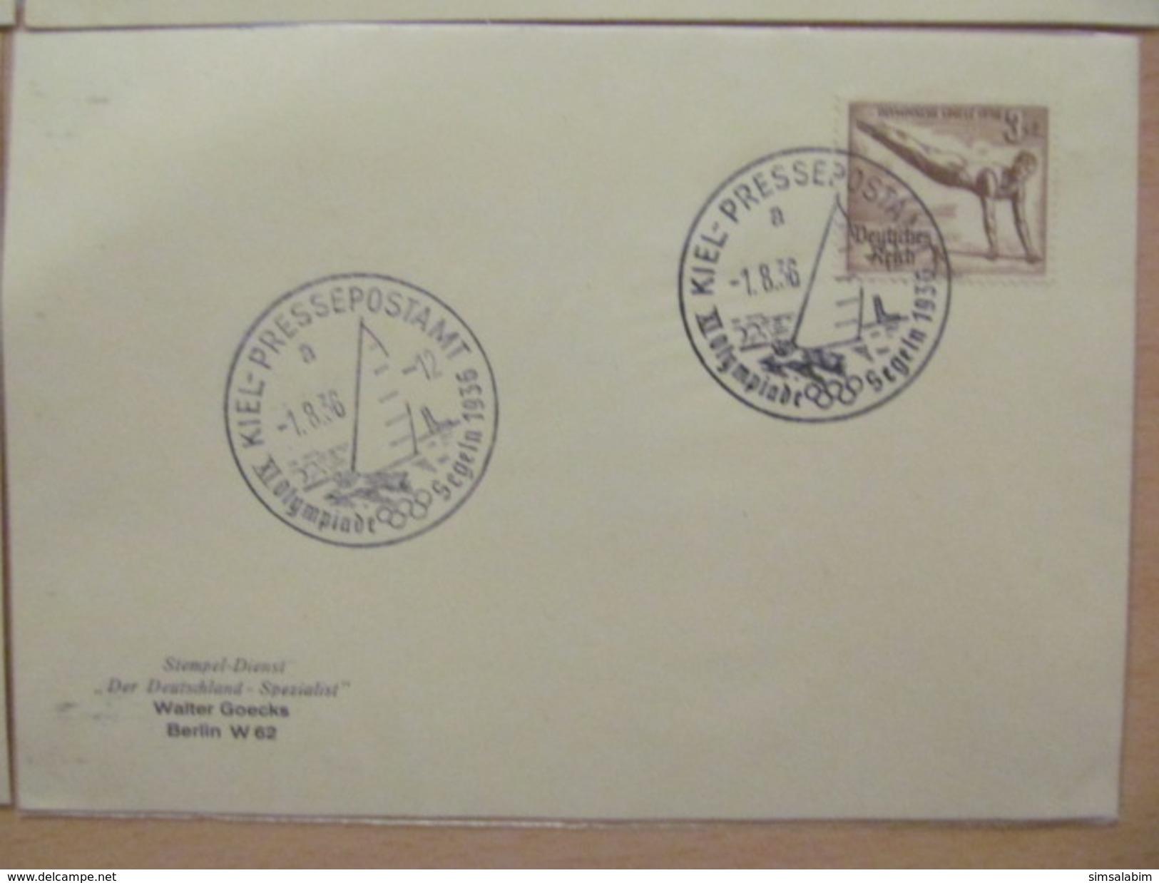 Olympiade 1936,tolle Sammlung Von 21 Verschiedenen SST Karten Mit Seltenen Stempeln! - Deutschland