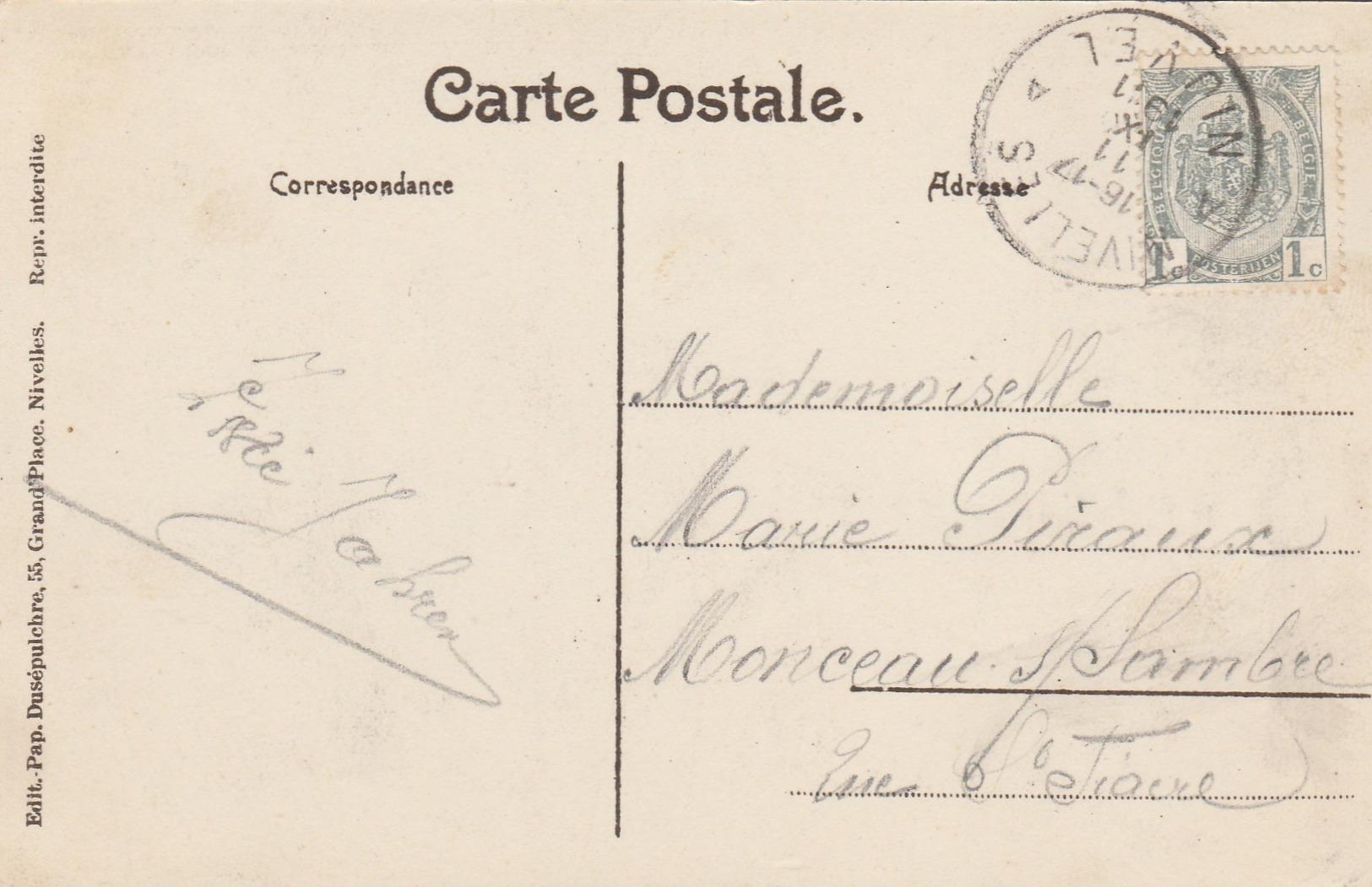 Souvenir De Nivelles , Carte Multivues ,kiosque,parc,collégiale,statue Sainte Gertrude - Nivelles