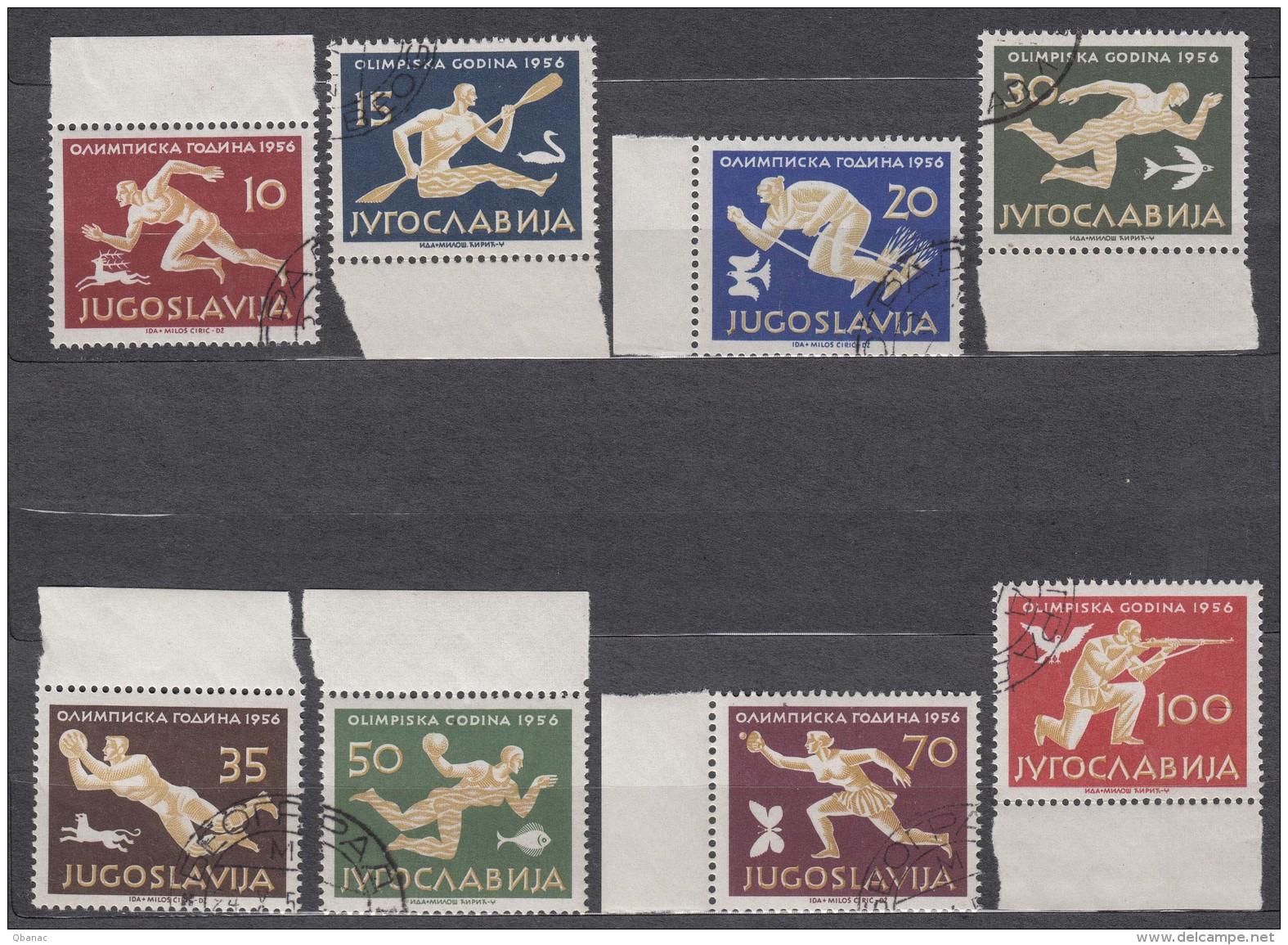 Yugoslavia Republic 1956 Sport Olympic Games Melbourn Mi#804-811 Used - 1945-1992 Socialistische Federale Republiek Joegoslavië