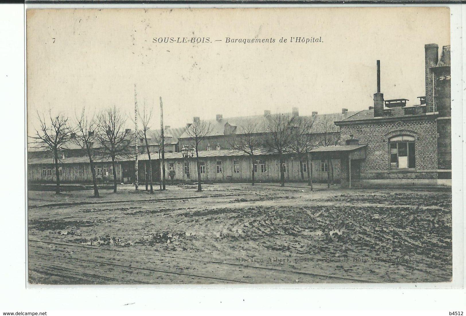 59 SOUS Le BOIS Baraquements De L'Hôpital - France