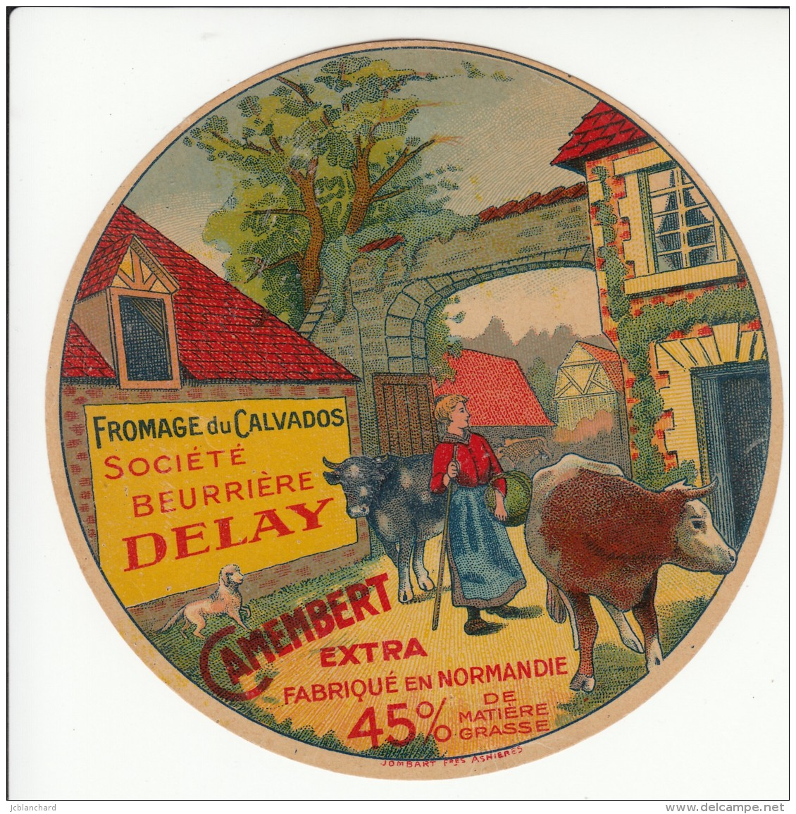 Etiquette De Fromage Camembert - Société Beurrière Delay. - Cheese