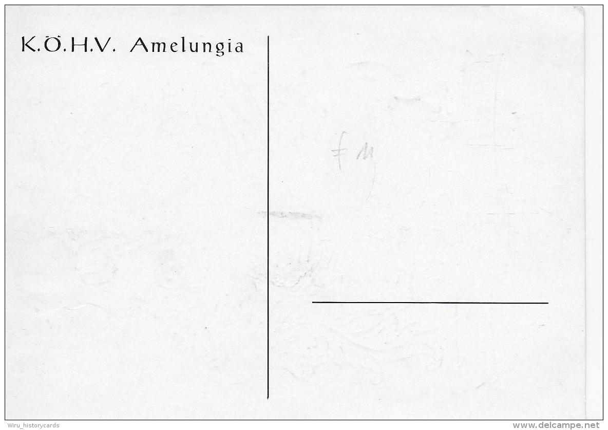 AK 0818  Wien ( K.Ö.H.V. Amelungia ) - Nunquam Retro 19.6.1907 ( Studentika , Wappen ) - Schulen