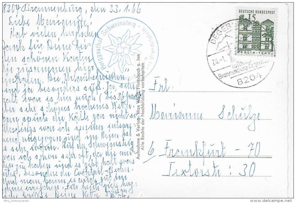 AK 0818  Berggasthof Schweinsteig Bei Brannenburg - Verlag Weiß Um 1966 - Rosenheim