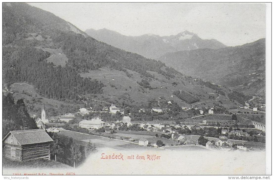 AK 0819  Landeck Mit Dem Riffler - Verlag Stengel & Co Um 1904 - Landeck