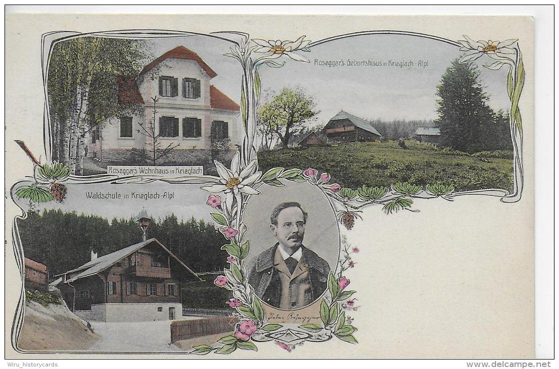 AK 0819  Krieglach-Alpl - Rosegger´s Waldheimat/ Lithographie Ca. Um 1900 - Krieglach