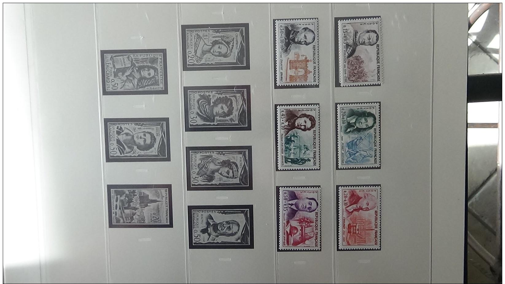 Collection France ** Années 60 Et Autres Dont Bonnes Valeurs. Voir Commentaires !!! - Sammlungen (im Alben)