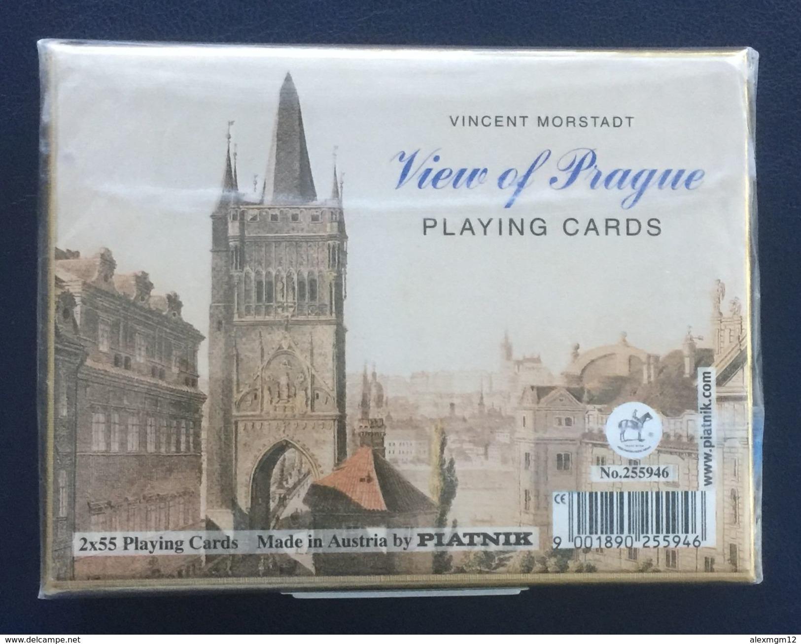 View Of Prague, Vincent Morstadt, Playing Cards, Piatnik, Austria, New, Sealed, 2 Decks - Playing Cards (classic)