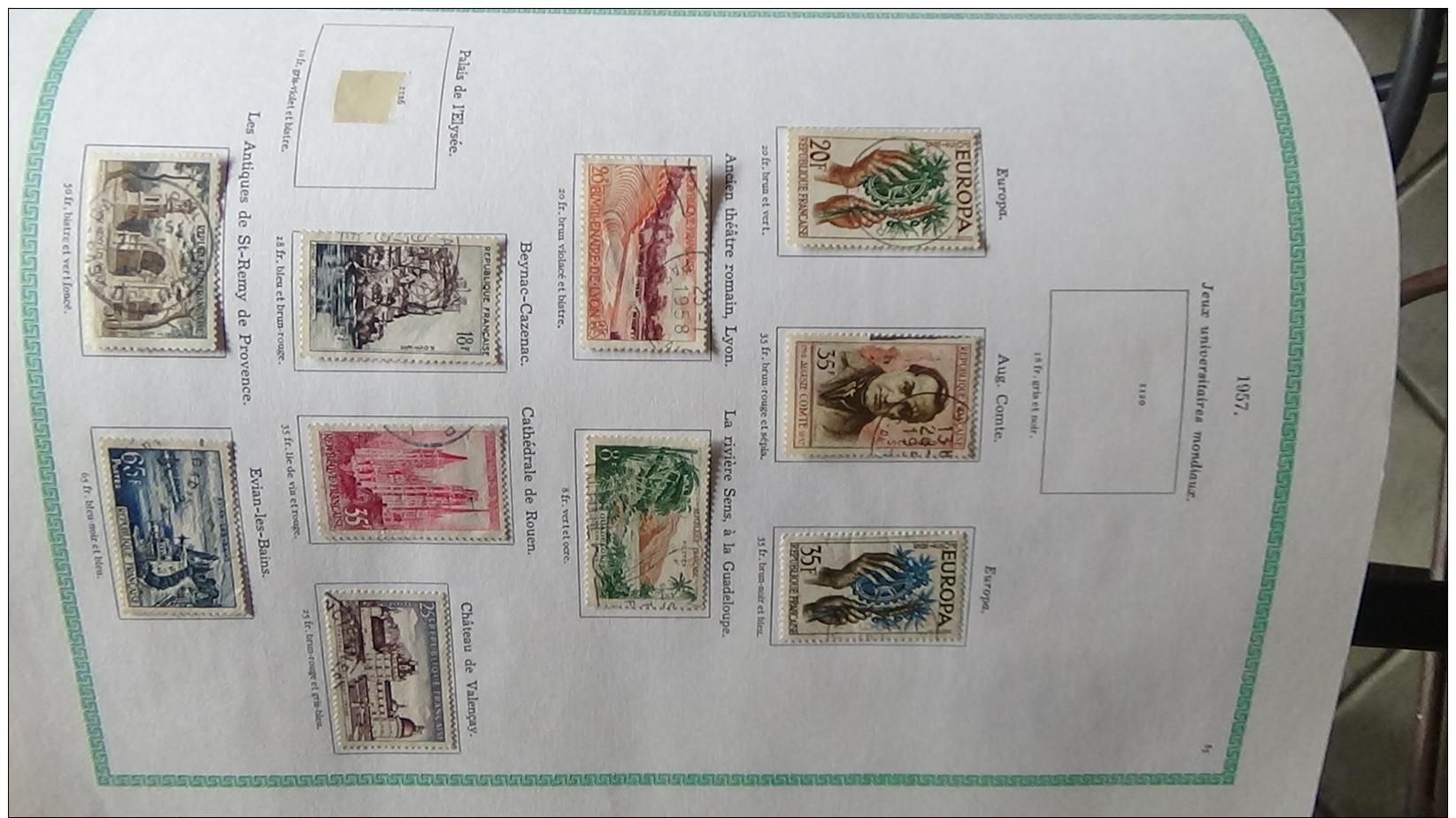 Album De 1ers  Timbres Oblitérés Du France (qqs **)  Dont Bonnes Valeurs Voir Commentaires !!! - Stamps