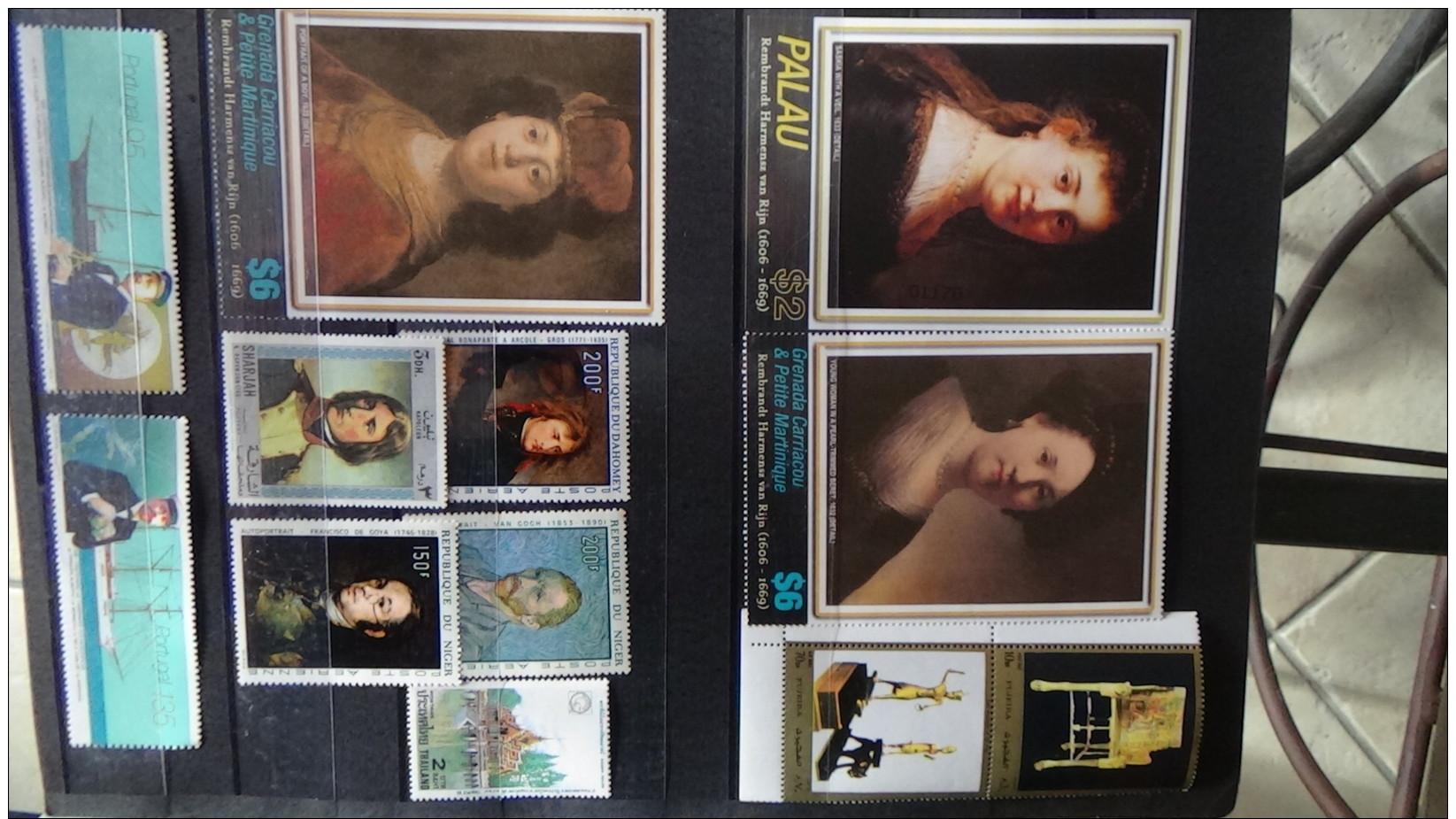 Album De Timbres Et Blocs Tous ** Dont Bonnes Valeurs Voir Commentaires !!! - Sammlungen (im Alben)